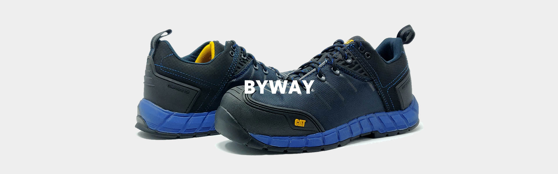 CAT Byway Blue Safety Trainers