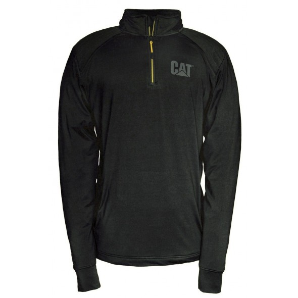 CAT Black Contour 1/4 Zip Sweatshirt