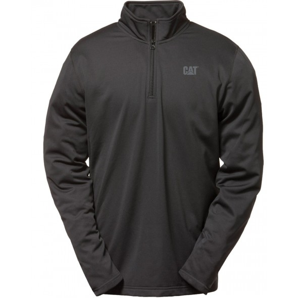 CAT Black Flex Layer Quarter Zip Top