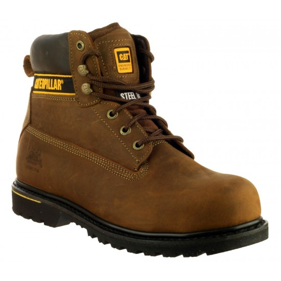 CAT Brown Holton Safety Boot