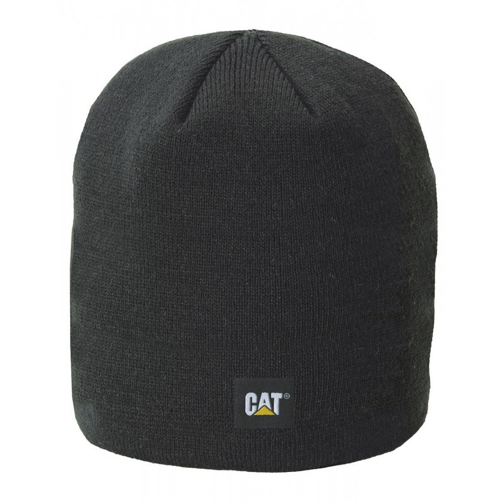 CAT Black Logo Knit Cap