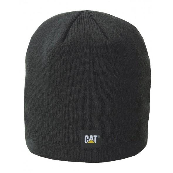 CAT Black Logo Knit Cap