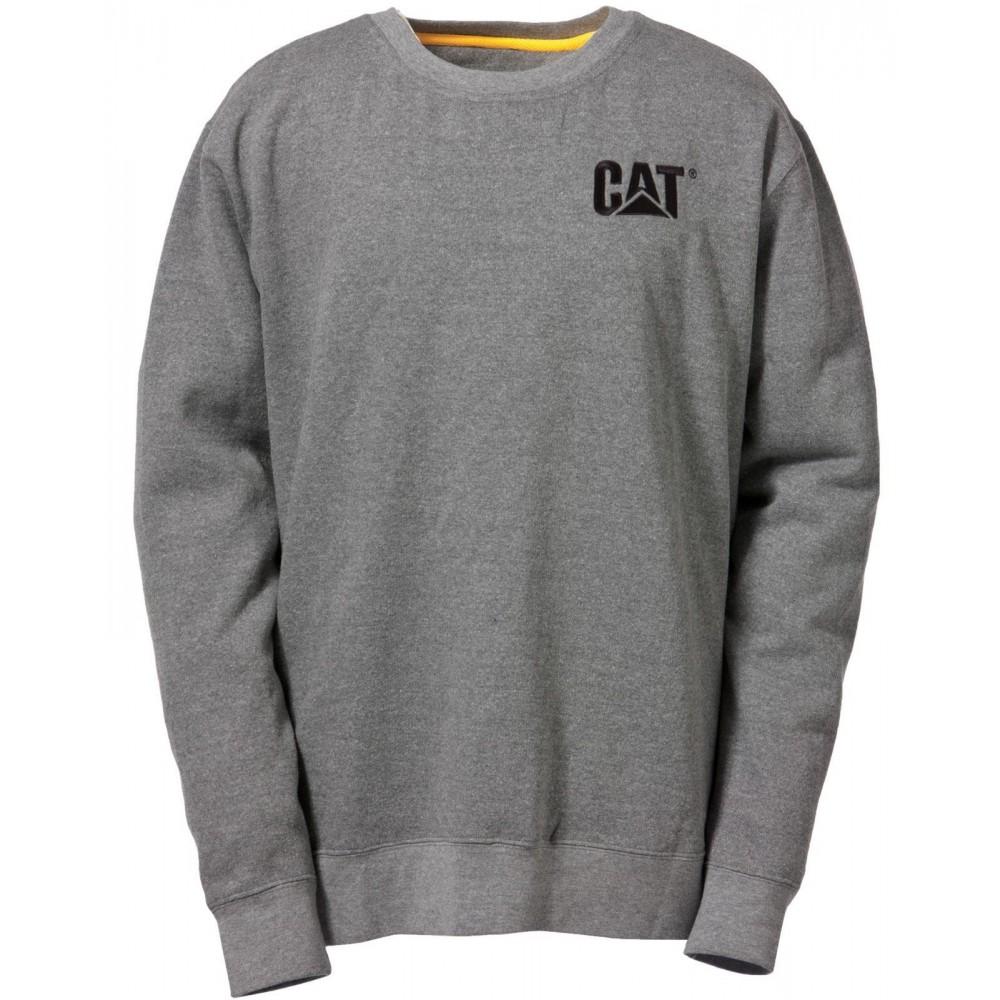 CAT Grey Trademark Crew Sweatshirt