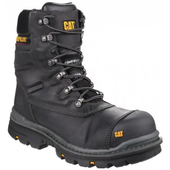 CAT Black Premier Waterproof Safety Boot