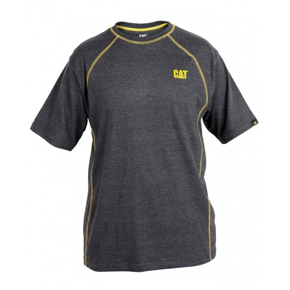 CAT Charcoal Heather Heather Performance Shorts Sleeve T-Shirt
