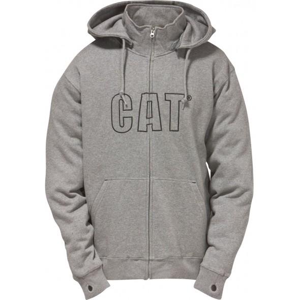CAT Grey Applique Hooded Sweatshirt