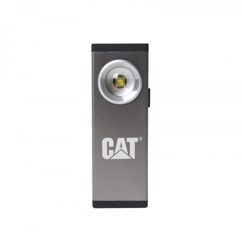 CAT Grey/Silver Aluminium Rechargeable Pocket Spot Light 200LM