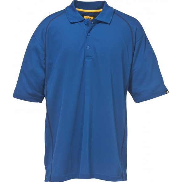 CAT Bright Blue Advanced Performance Polo Shirt