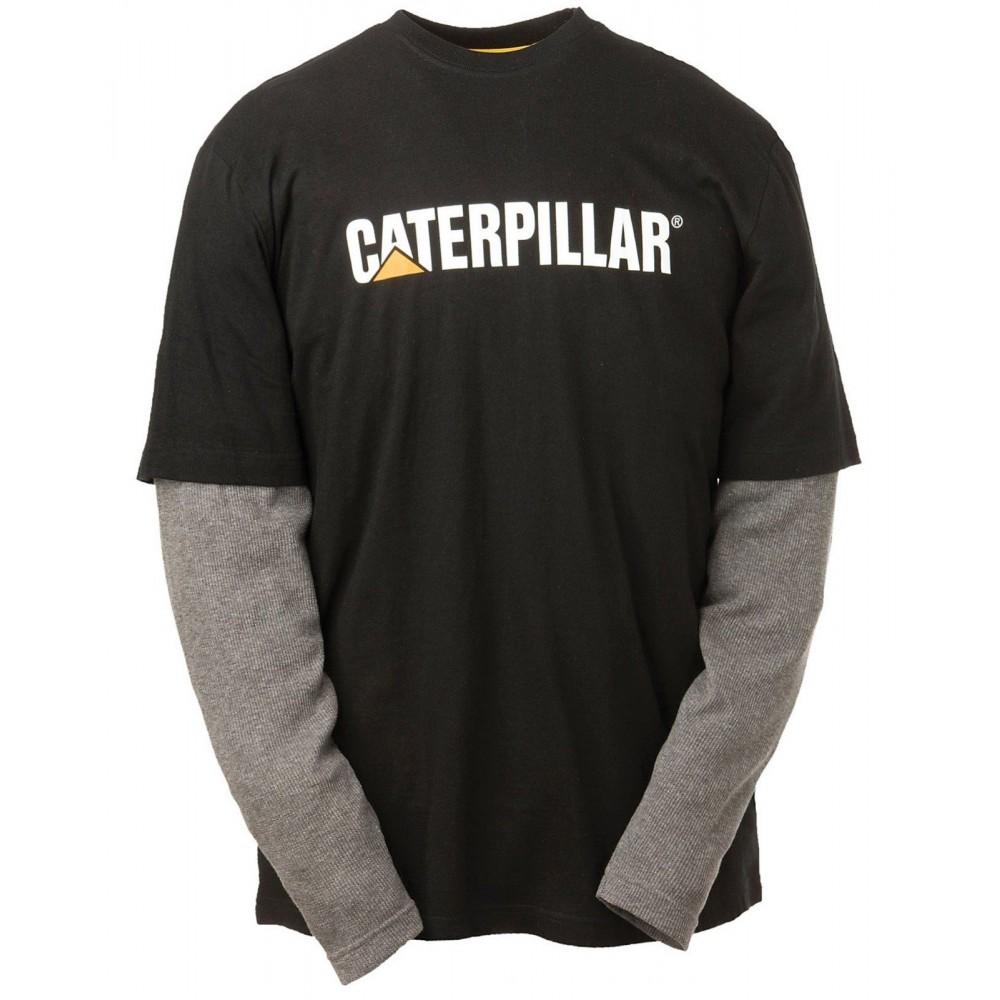 CAT Black Thermal Layered Long Sleeve T-Shirt