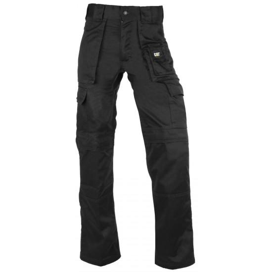CAT Black Cargo Work Trouser