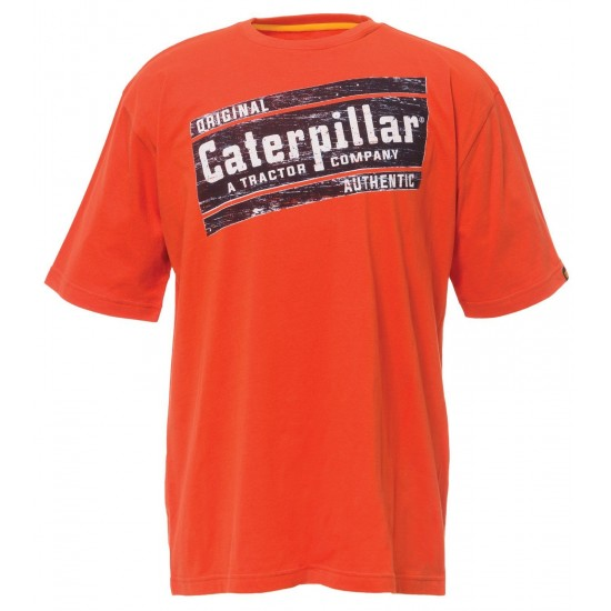 CAT Adobe Orange Parallelogram T-Shirt