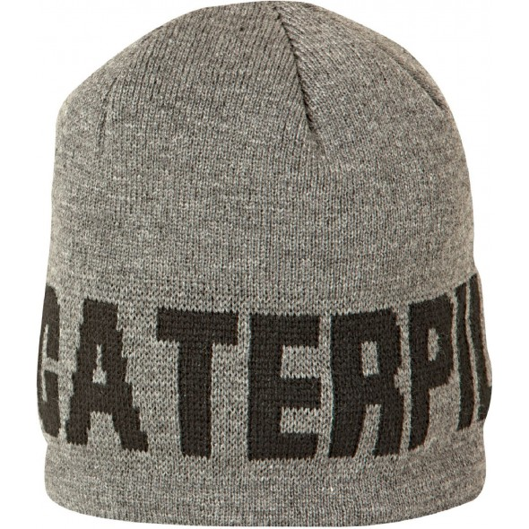 CAT Dark Heather Grey Branded Beanie Cap