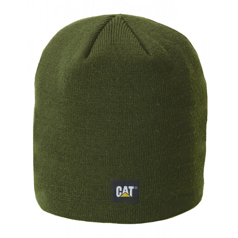 CAT Army Moss Logo Knit Cap