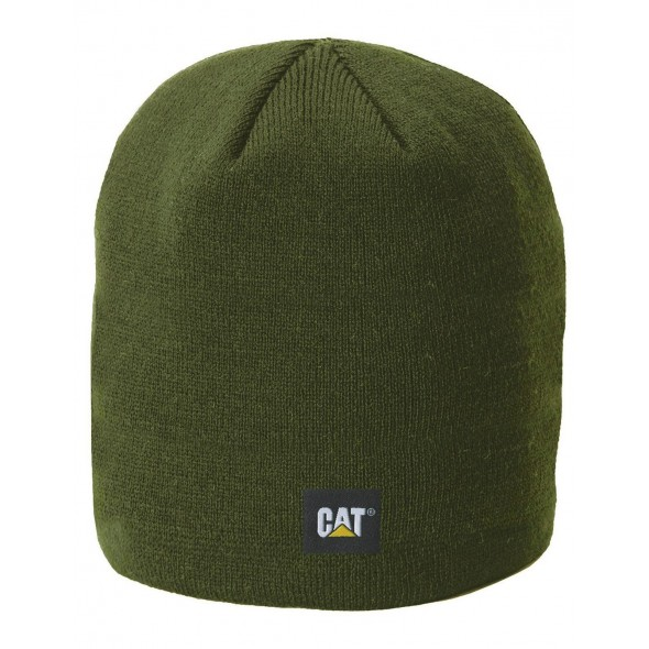 CAT Army Moss Logo Knit Cap