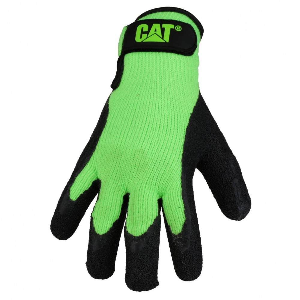 CAT Green Latex Palm Glove