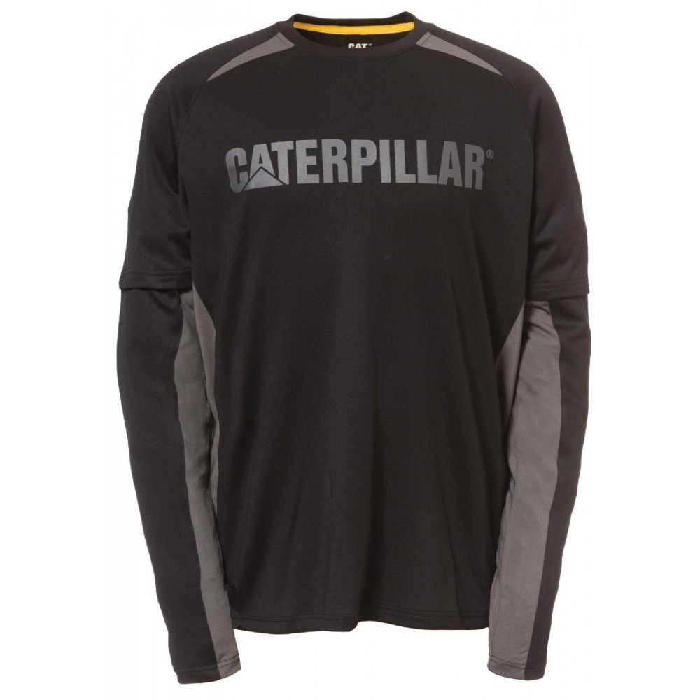 CAT Black Expedition Long Sleeve T-Shirt