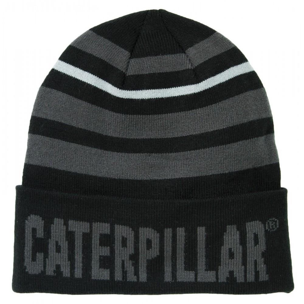 CAT Black Tumbler Knit Cap