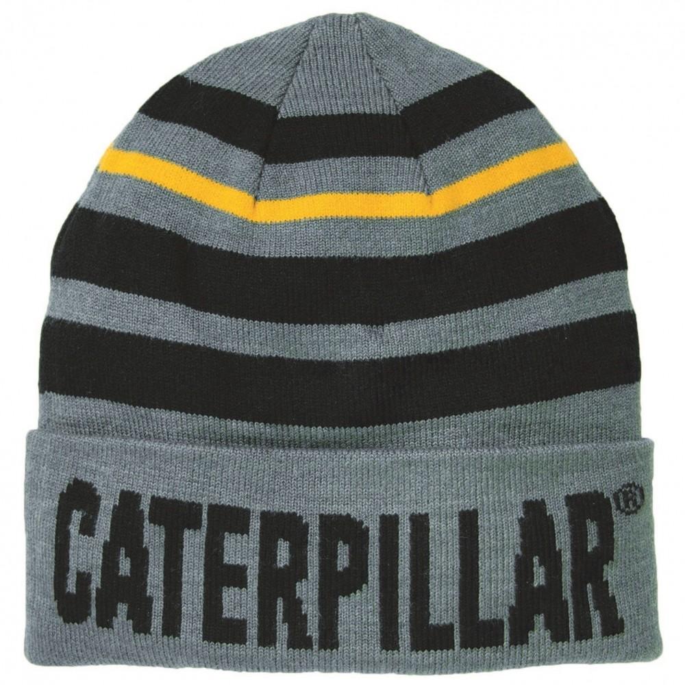 CAT Dark Heather Grey Tumbler Knit Cap