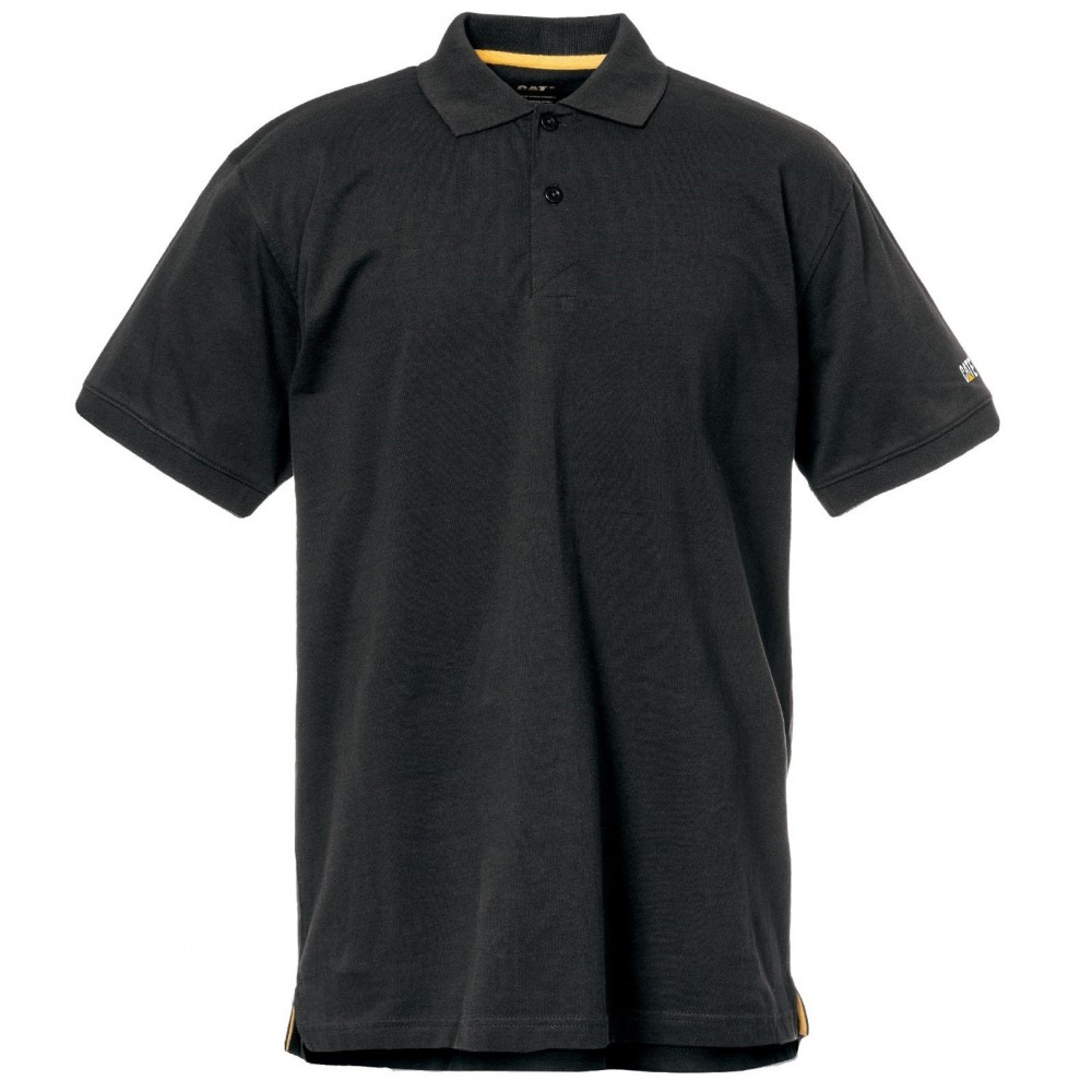 CAT Black Classic Polo Shirt