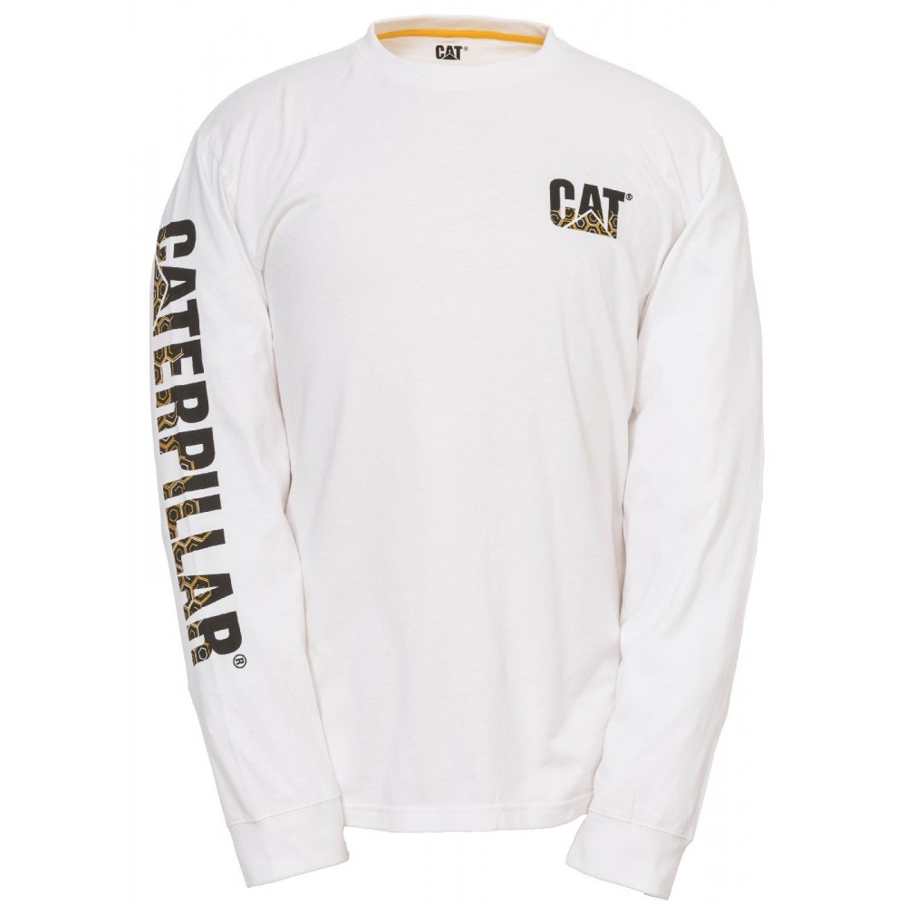 CAT White Custom Banner T-Shirt