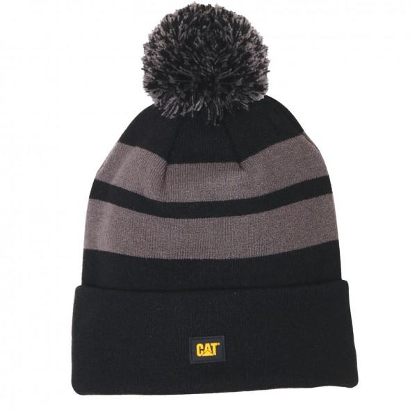 CAT Black Aspen Cap Knit Stripes