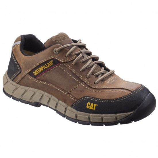 CAT Brown Streamline Leather Safety Shoe