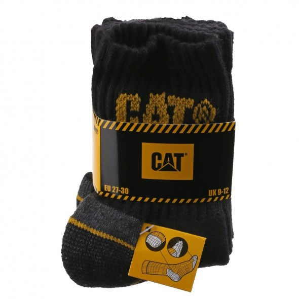 CAT Black Kids Crew Socks