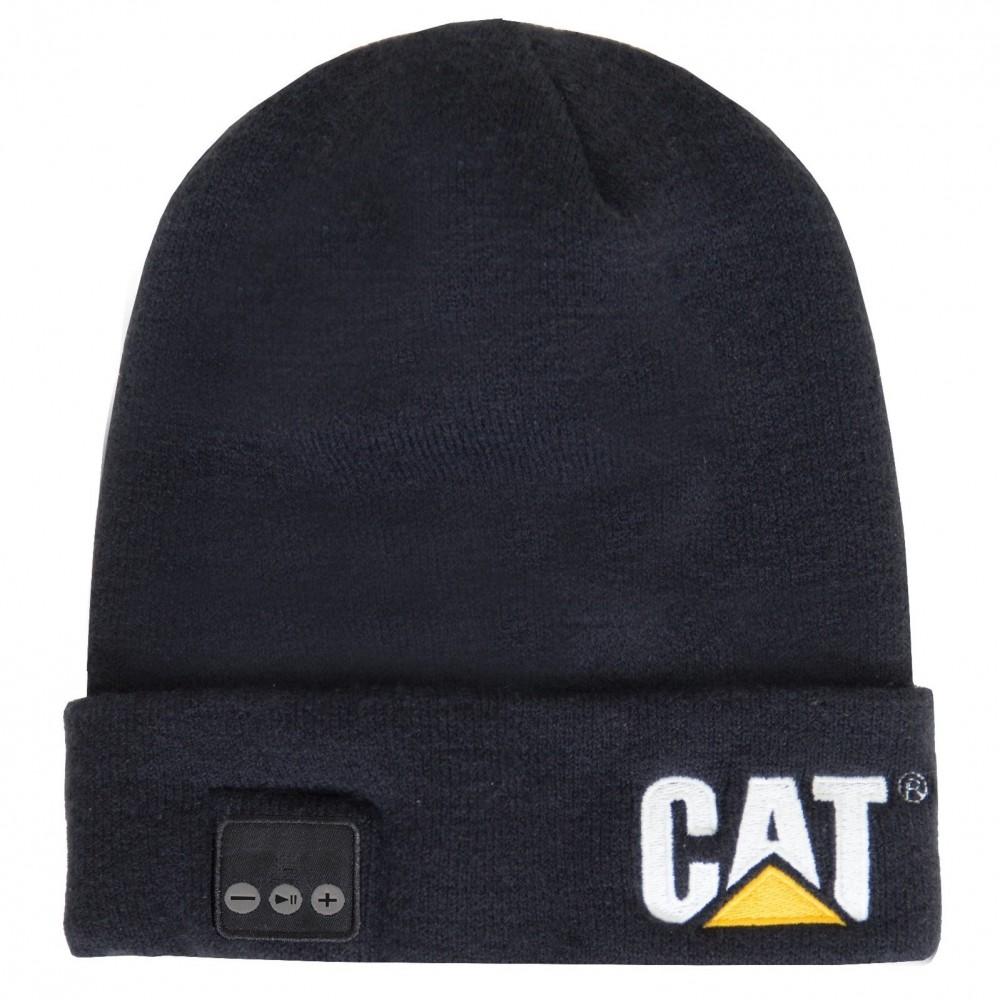 CAT Black Bluetooth Beanie