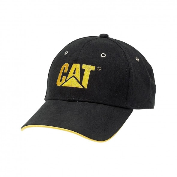 CAT Black Trademark Microsuede Cap