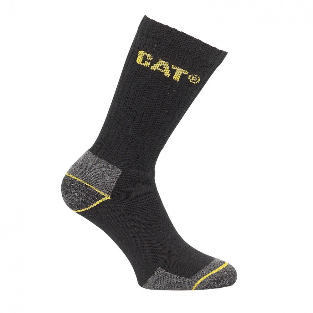 CAT Black Crew Work Sock 3-Pack