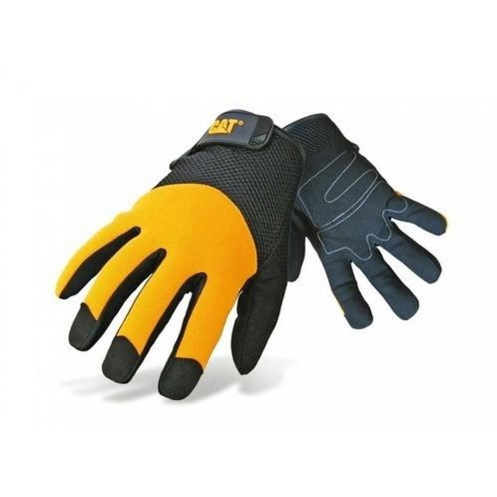 CAT Black/Yellow Padded Palm Glove