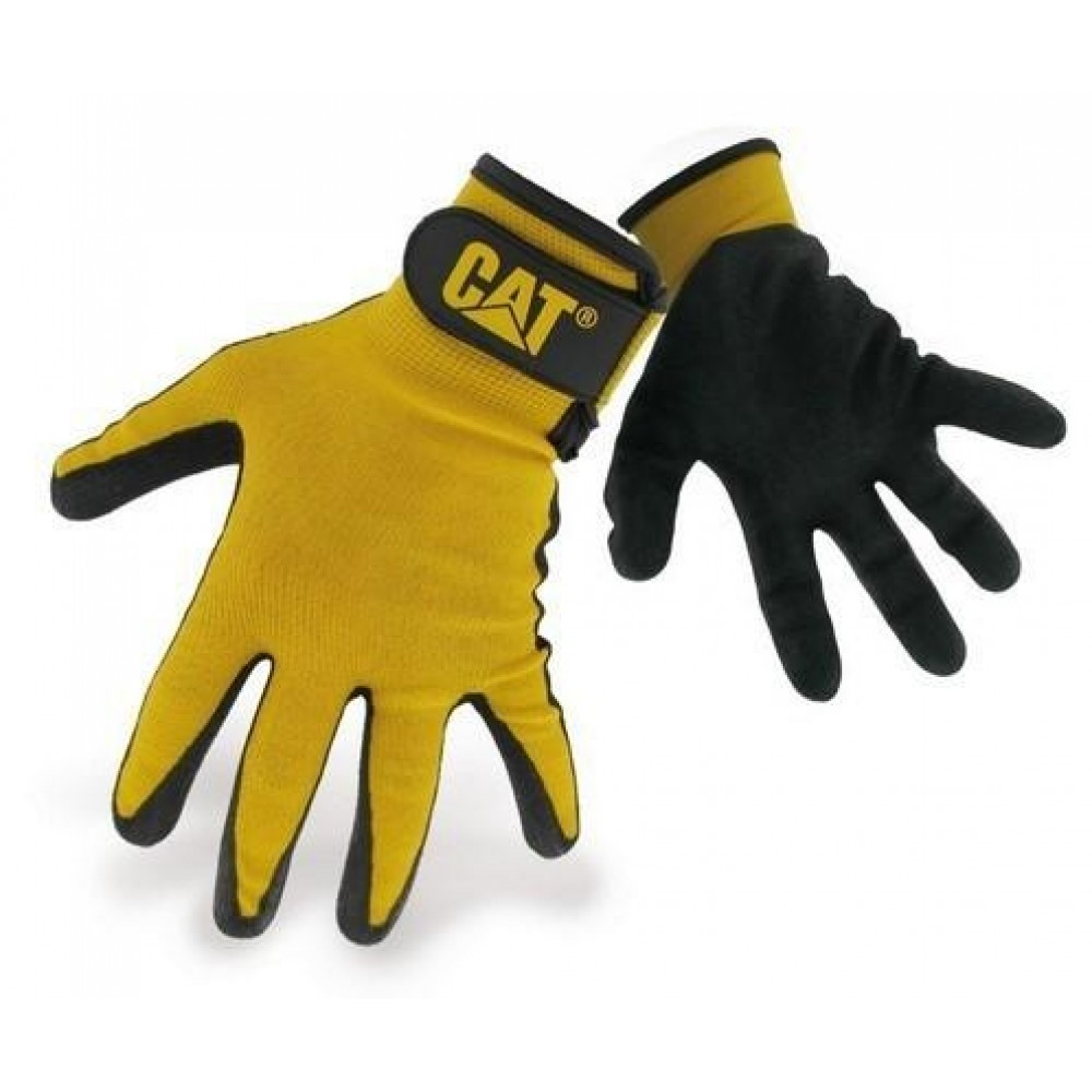 CAT Yellow Nitrile Coated Glove