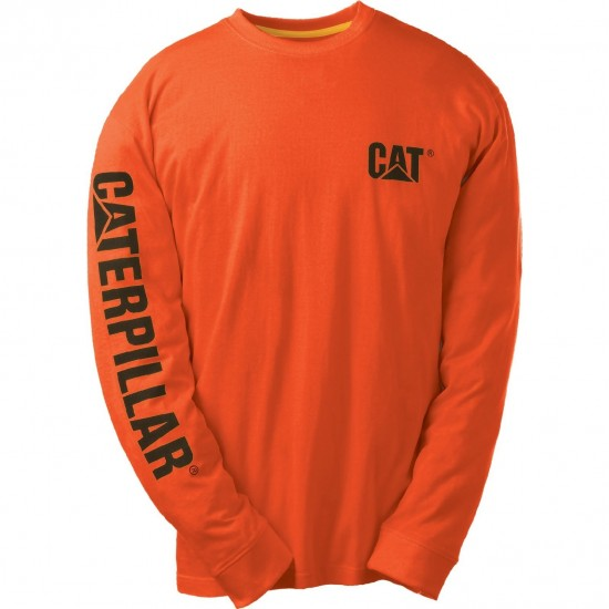 CAT Adobe Orange Trademark Banner Long Sleeve T-Shirt