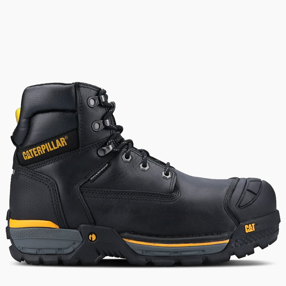 CAT Excavator Black Safety Boots