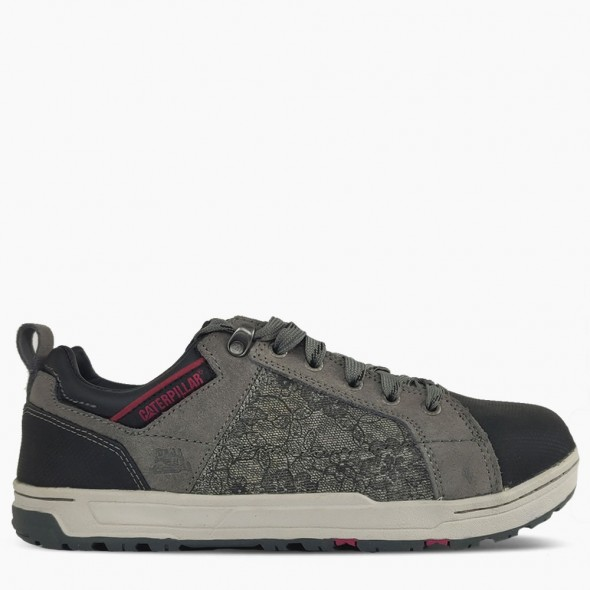 CAT Grey Brode Canvas Safety Trainer