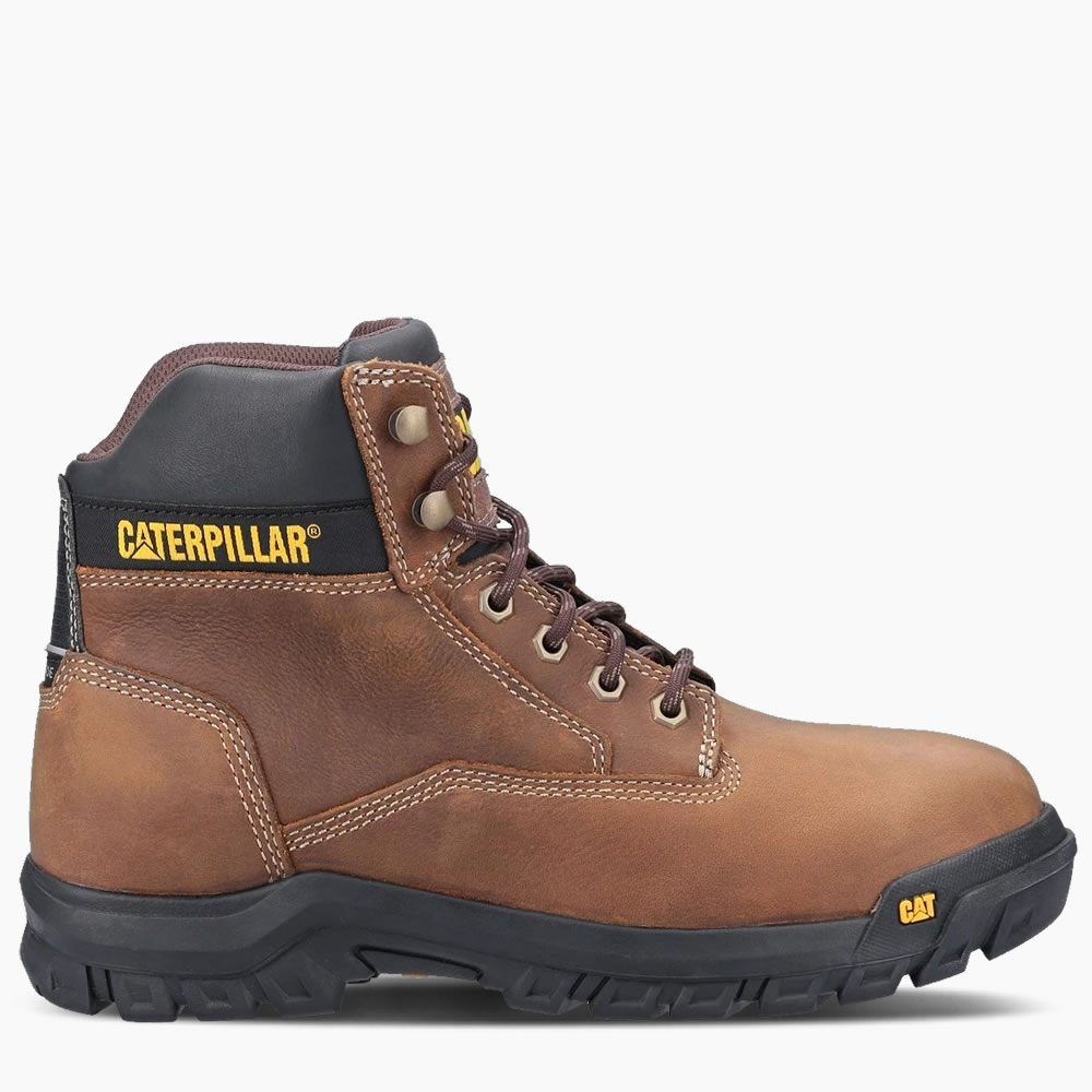 CAT Median Brown Safety Boots