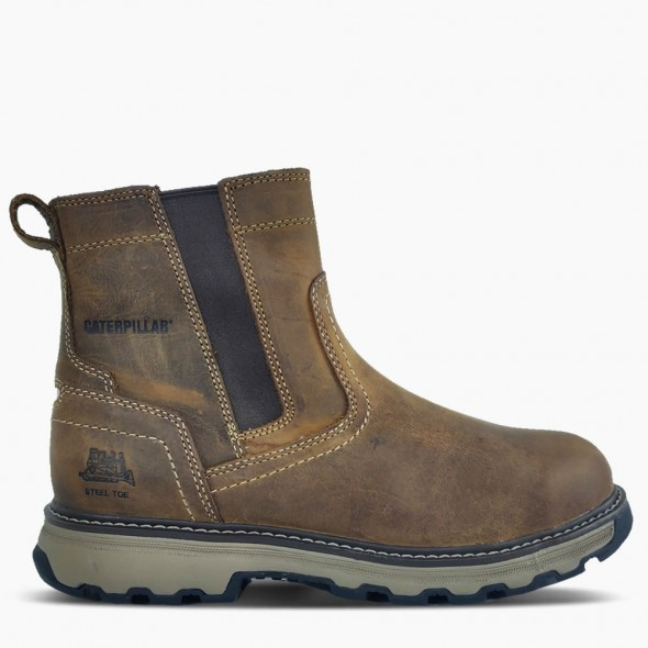 CAT Dark Beige Pelton Safety Boot
