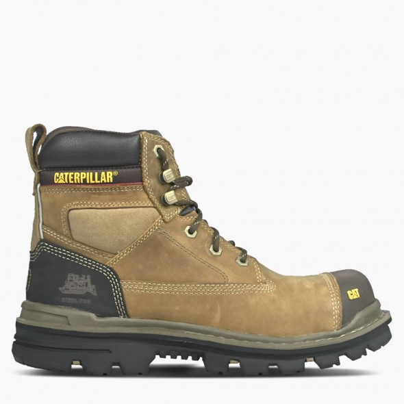 "CAT Beige Gravel 6"" Safety Boot"