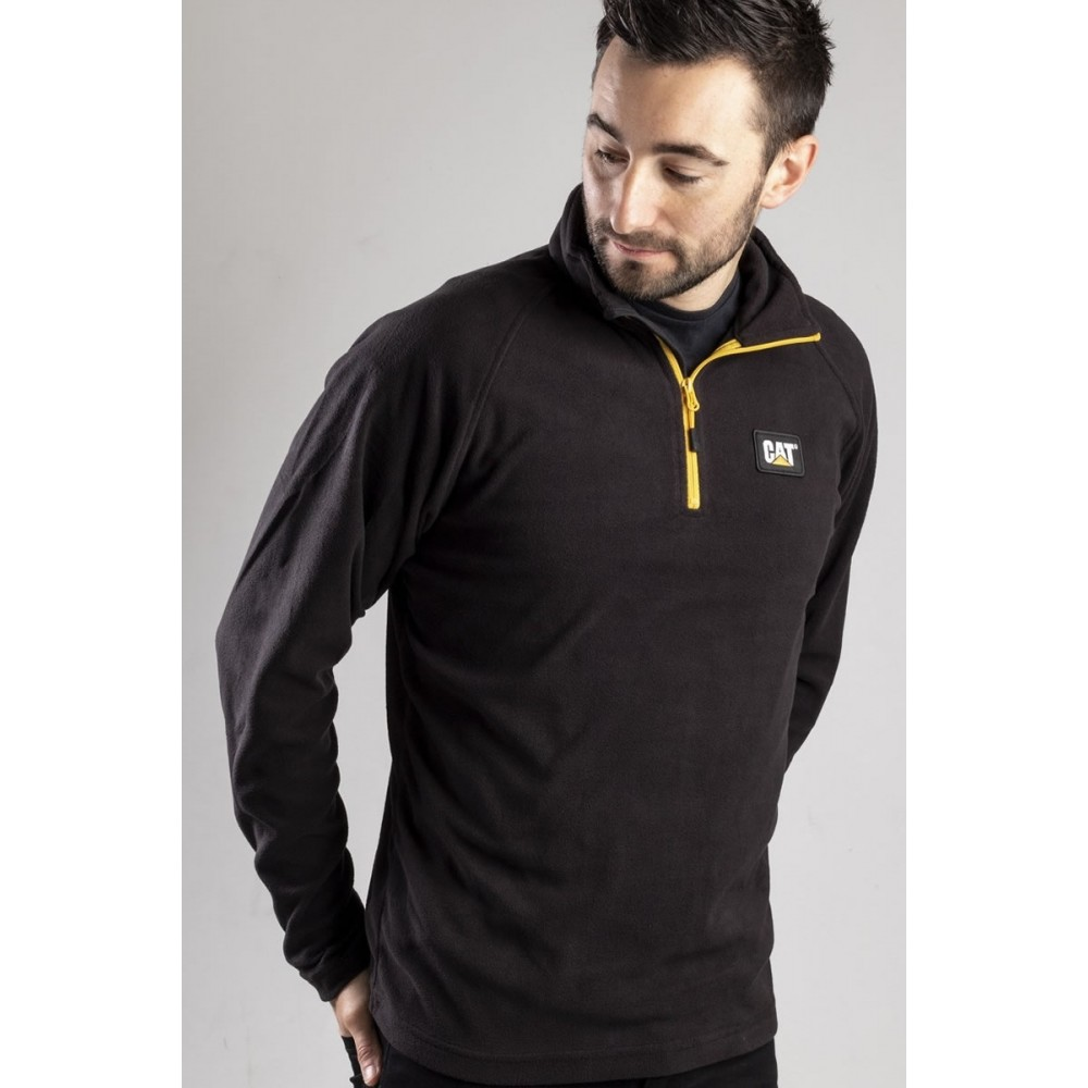 CAT Black Concord Fleece Pullover