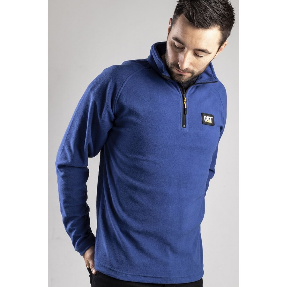 CAT Bright Blue Concord Fleece Pullover