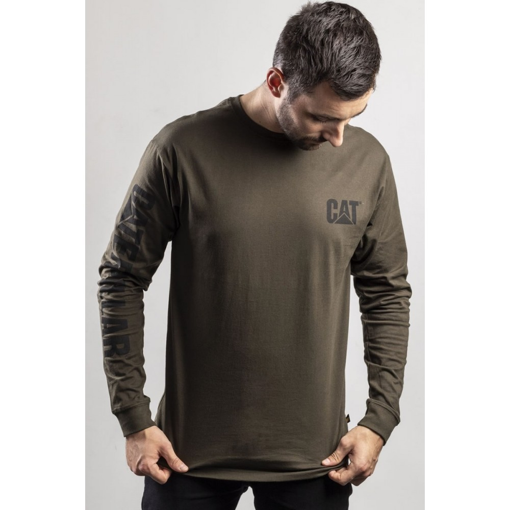 CAT Moss Trademark Banner Long Sleeve T-Shirt