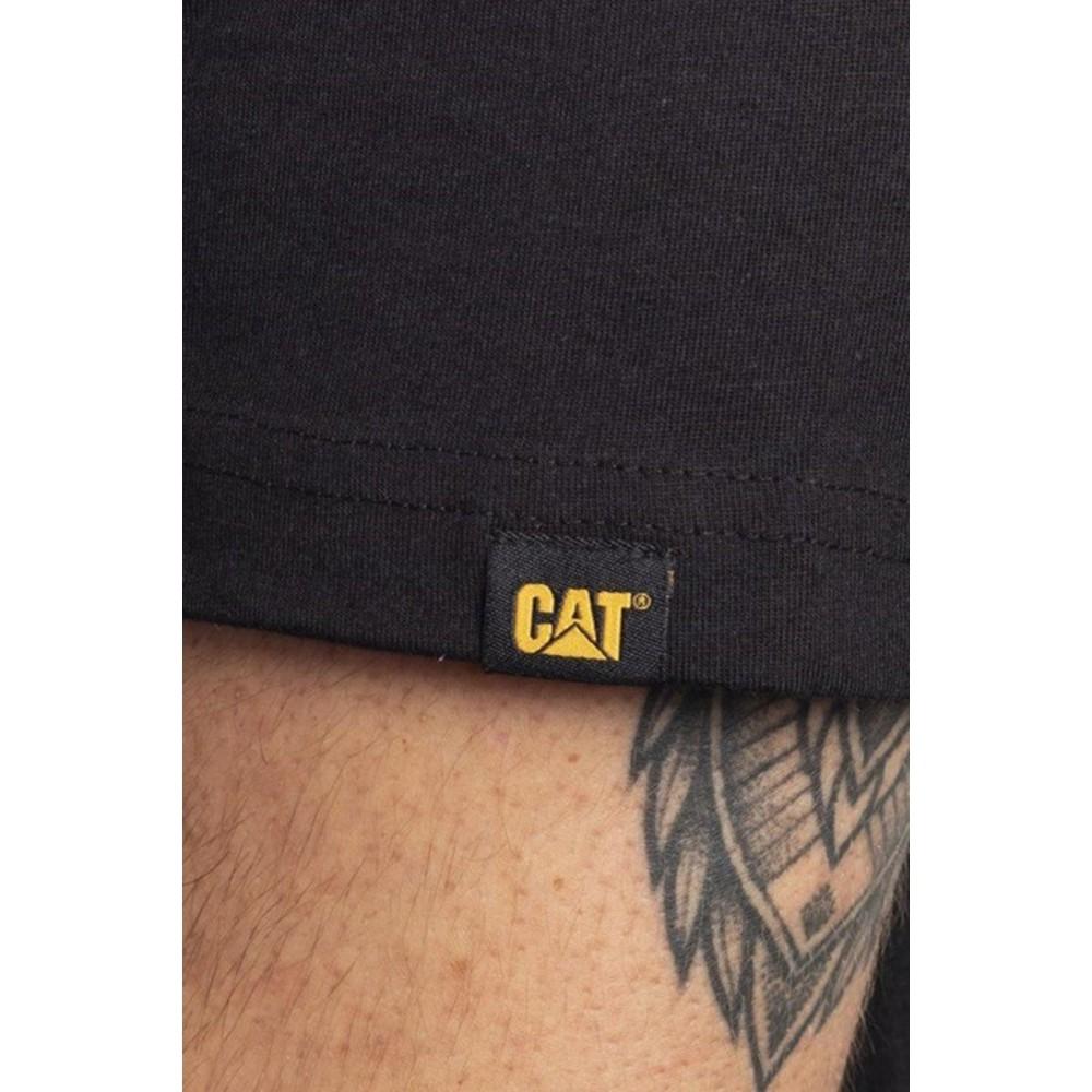CAT Black Trademark Logo T-Shirt